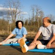 Stock Photo: Senior couple exercise