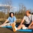 Senior couple exercise — Stock Photo #5092239