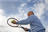 Senior tennis player — Stock Photo