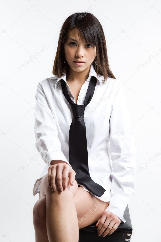 A portrait of a beautiful young asian woman — Stock Photo #5091662