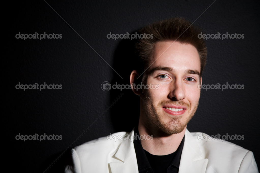 A headshot of a happy and smiling casual caucasian businessman  Stock Photo #5092026