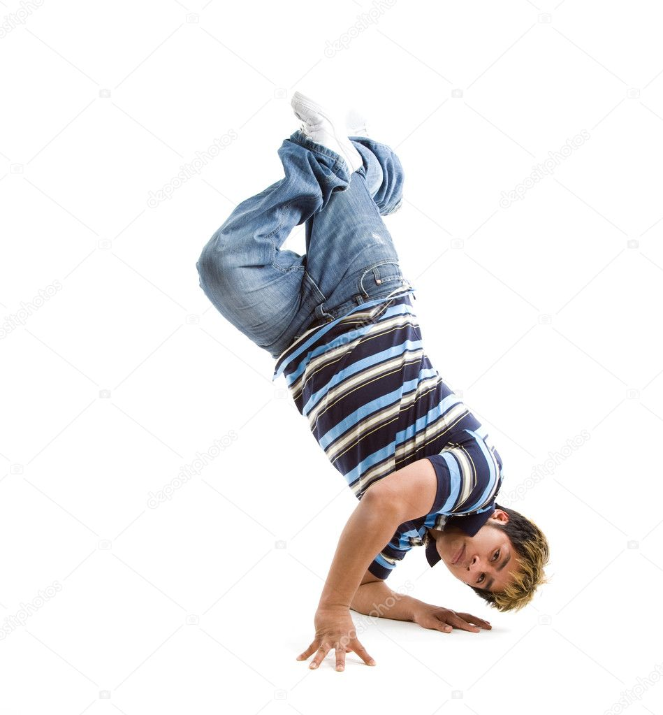 A shot of a hispanic male dancer — Stock Photo #5092036