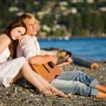 Romantic caucasian couple — Stock Photo