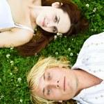 Happy caucasian couple — Stock Photo