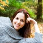 Beautiful autumn caucasian girl — Stock Photo