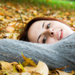 Caucasian girl in fall season — Stock Photo #5452785
