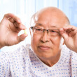 Elderly asian healthcare - 图库照片