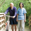 Mature asian couple — Stock Photo