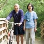 Mature asian couple — Stock Photo
