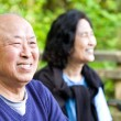 Happy senior asian couple — Stock Photo