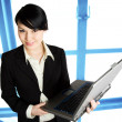 Businesswoman with laptop — Stock Photo #5453344