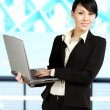 Working businesswoman — Stock Photo