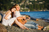 Romantic caucasian couple — Stock Photo