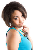 Thinking african american woman — Stock Photo