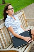 Beautiful caucasian businesswoman — Stock Photo