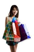 Shopping asian woman — Stock Photo