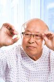 Elderly asian healthcare — Stock Photo