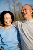 Senior asian couple — Stock Photo