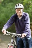 Senior asian biking — Stock Photo