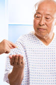 Senior asian healthcare — Stock Photo