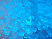 Blue ice cubes — Stock Photo