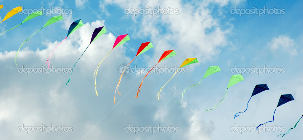 Kites in the sky — Stock Photo #4699741