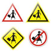 Forbidden for businesswomen — Stock Photo