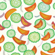 Royalty-Free Stock Vector Image: Cucumber and tomato seamless pattern