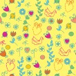 Funny bright seamless pattern — Stock Vector