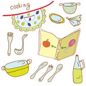 Cooking set — Stock Vector