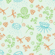 Nature green seamless pattern — Stock Vector
