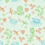 Nature green seamless pattern — Stock Vector #4270208
