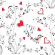Seamless floral romantic pattern — Stock Vector