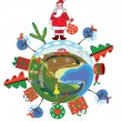 Stock Vector: Christmas globe