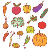 Sketch of vegetables — Stock Vector
