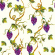 Seamless floral pattern with grape — Stock Vector #4312170