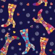 Winter boots seamless pattern — Stockvectorbeeld