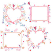 Floral frames set — Stock Vector