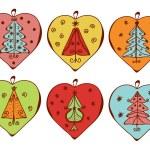 Vánoční dekorace se stromy — Stock vektor