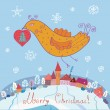 Royalty-Free Stock Imagen vectorial: Christmas card with bird