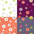 Royalty-Free Stock Vector Image: Seamless abstract patters  set