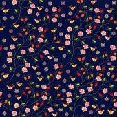Dog rose seamless pattern — Stock Vector