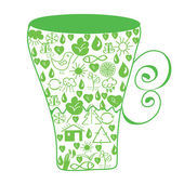 Environmental cup — Stock Vector