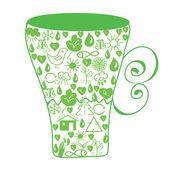 Miljö cup — Stockvektor