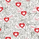 Valentine romantic vintage seamless — Stock Vector