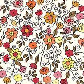 Utsmyckade sömlös blommönster — Stockvektor