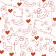 Royalty-Free Stock Vektorgrafik: Seamless red romantic pattern