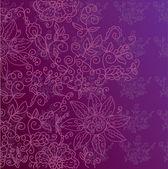 Floral ornate decorative background — Stock Vector