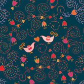Romantic floral seamless pattern — Stock Vector