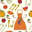 Royalty-Free Stock ベクターイメージ: Kitchen set seamless  pattern